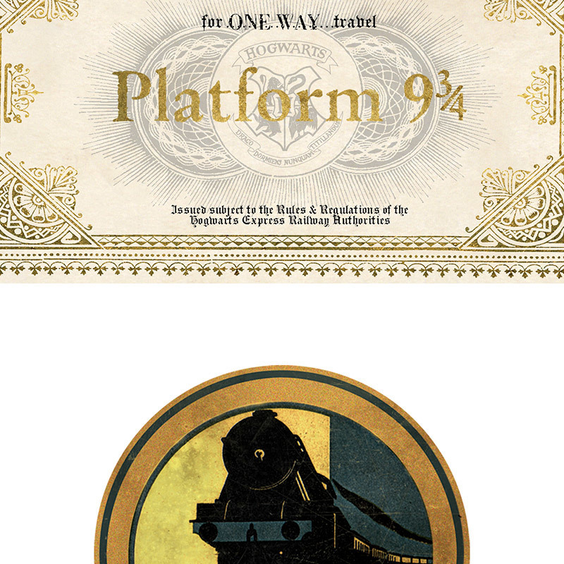 picture regarding Hogwarts Express Ticket Printable called Totally free Delivery - Harry Potter : HOGWARTS TICKET AND Baggage