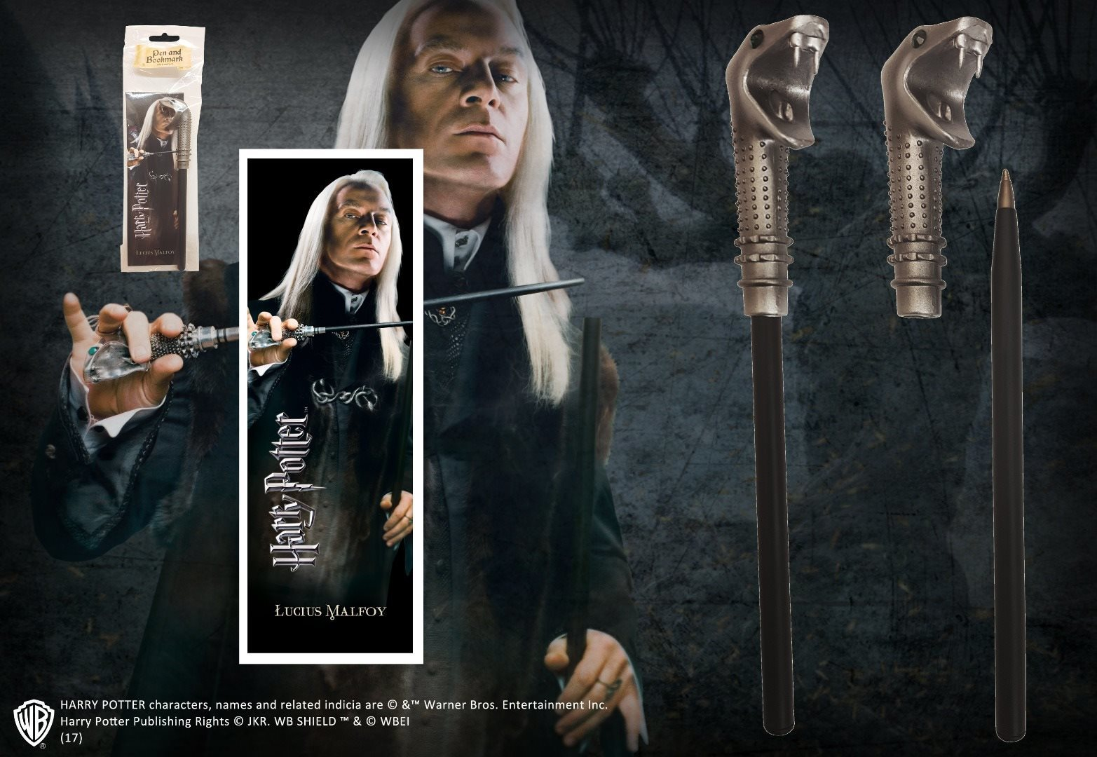 FREE SHIPPING - Harry Potter Pen & Bookmark LUCIUS MALFOY