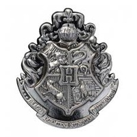 Lapel Pin Pewter Hogwarts School Crest