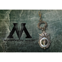 MINISTRY OF MAGIC METAL KEYCHAIN