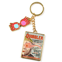 Harry Potter Quibbler Magazine Luna Glasses Key Chain