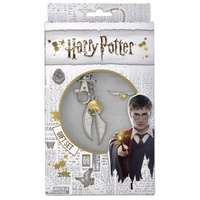 Keyring and Pin Badge Gift Set Golden Snitch