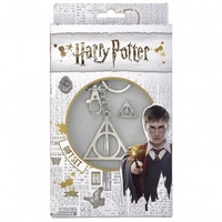 Deathly Hallows Keyring and Pin Badge Gift Set
