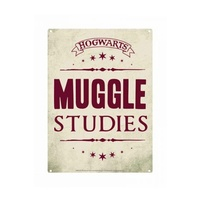 Tin Sign Muggle Studies Small