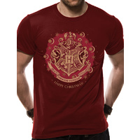 Hogwarts Crest Red Christmas Unisex T-Shirt