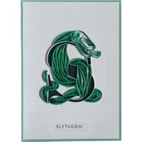 Slytherin Quilled Greeting Card