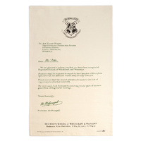 Hogwarts Acceptance Letter Tea Towel Pack of 2