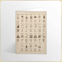 Card and Envelope Harry's Alphabet Gold Foiled
