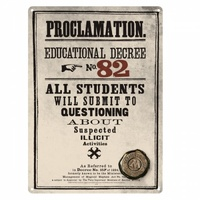 Metal Wall Sign Proclamation No. 82