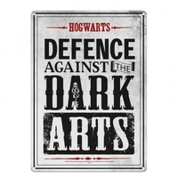 Tin Sign Hogwarts Defence Against the Dark Arts