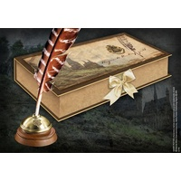 Hogwarts' Quill with inkpot and collectors box NN7595