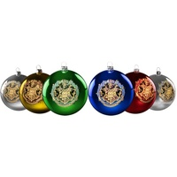 Christmas Bauble Set - Hogwarts Crests