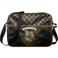 Hogwarts Black & Gold Messenger Bag
