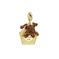Sterling Silver Chocolate Frog Slider Charm Embellished with Swarovski Crystals
