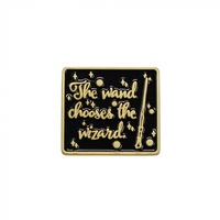 Wand Chooses the Wizard Enamel Pin Badge