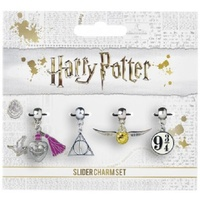 Slider Charm Set of 4 - Love Portion/Deathly Hallows/Golden Snitch/Platform 93/4