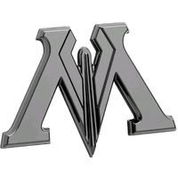 Ministry of Magic Premium 3D Black Chrome Logo Emblem Sticker