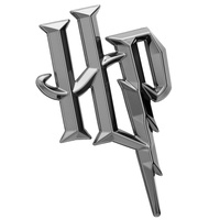Sticker Harry Potter Premium 3D Black Chrome Logo Emblem