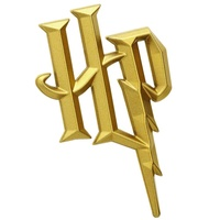 Sticker Harry Potter Premium 3D Gold Chrome Logo Emblem