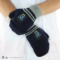 Knitted Fingerless Mittens / RAVENCLAW Gloves with magic touch