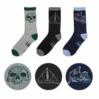 DEATHLY HALLOWS Set of 3 themed socks with gift box