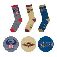 MACUSA set of 3 themed socks with gift box