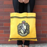 HUFFLEPUFF Tote Bag with Embroidered Crest