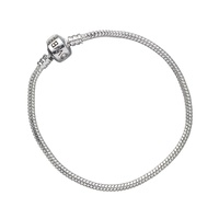 Silver Charm Bracelet for Slider Charms