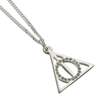 Deathly Hallows Sterling Silver Necklace with Crystals