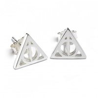 Deathly Hallows Stud Earrings in Sterling Silver