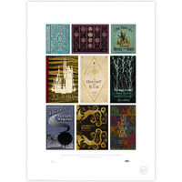 Hogwarts Bookcovers Compilation Limited Edition Print