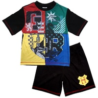 Kids Pyjama Shortie Set Hogwarts Houses