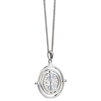Time Turner Necklace in Sterling Silver with Swarovski Crystals