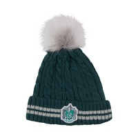 Slytherin Knitted Pom Pom Beanie