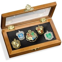 Hogwarts House Crest Pins in Collectors Box