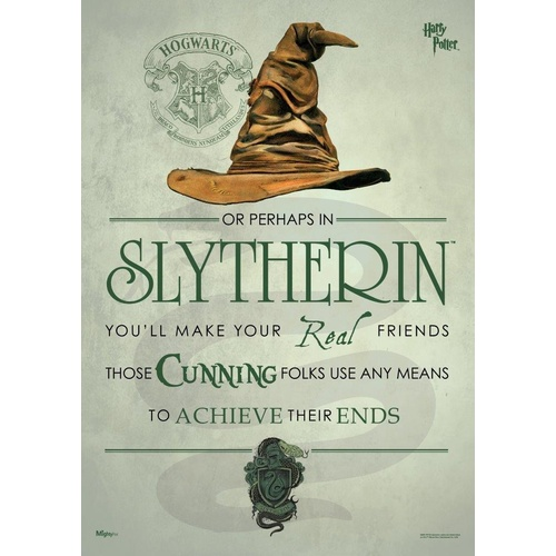 Poster Slytherin Sorting Hat Mighty Print