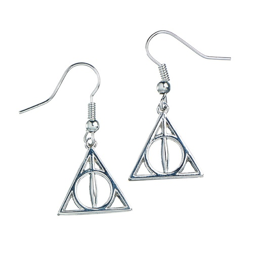Deathly Hallows Earrings Sterling Silver dangle style