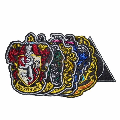Hogwarts House Crest Iron on Patches Set of 6