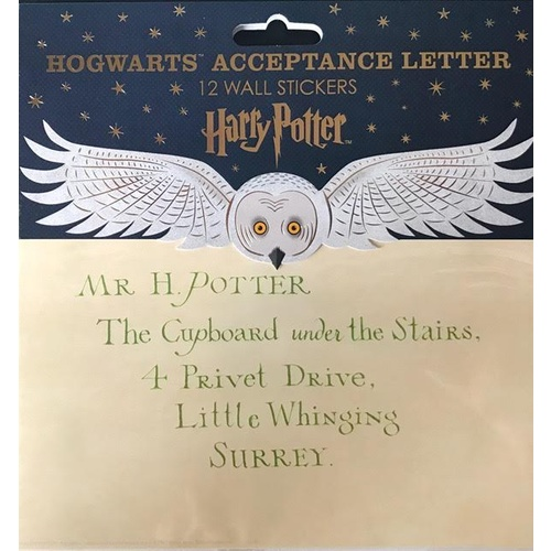 Wall Stickers Hogwarts Acceptance Letter