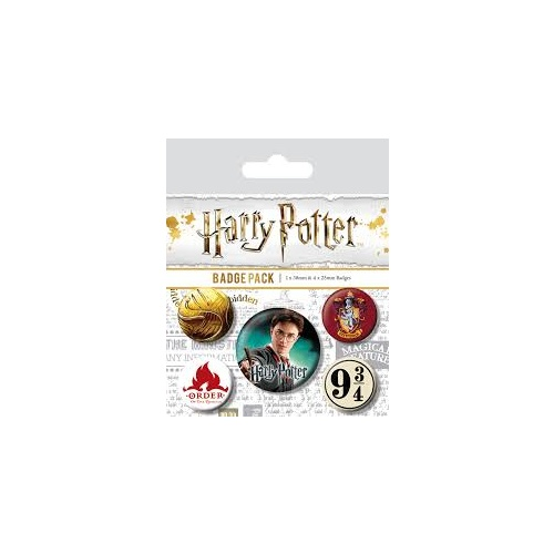 Pin Badges Set of 5 Pack Gryffindor