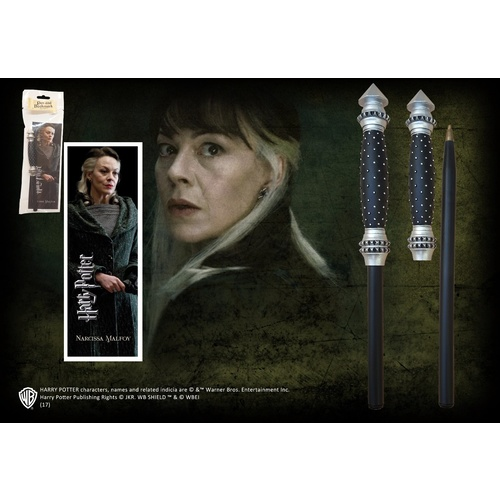 Narcissa Malfoy Wand Pen & Bookmark Set