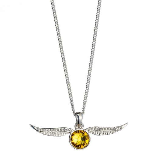 Golden Snitch Necklace in Sterling Silver embellished with Swarovski Crystals