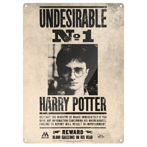 Tin Sign Harry Potter Undesirable No. 1 Small